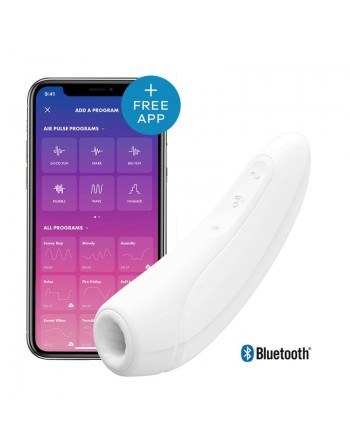 Stimulateur connecté Satisfyer Curvy 1 - Blanc