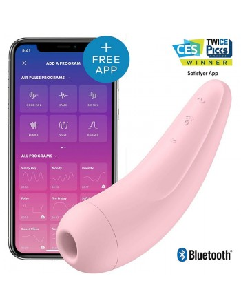 Stimulateur connecté Satisfyer Curvy 2 - Rose